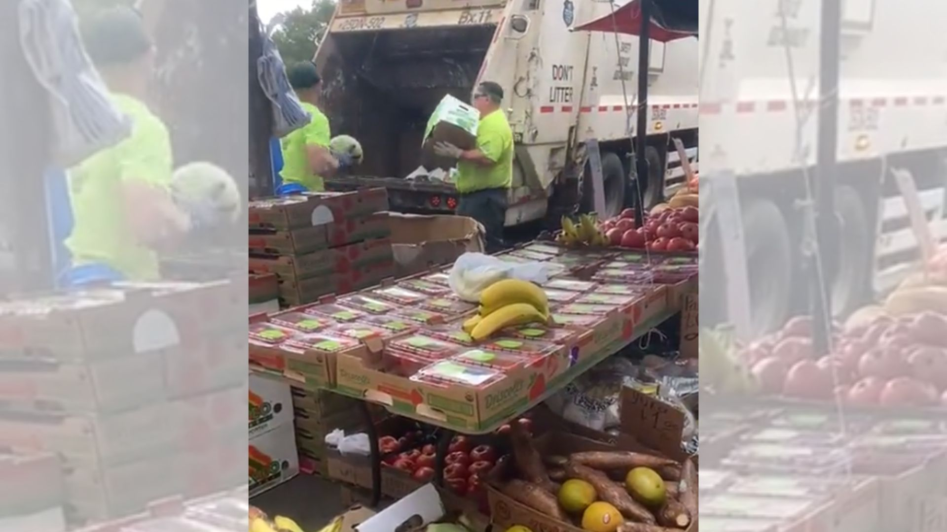 nyc sanitation toss vendor produce