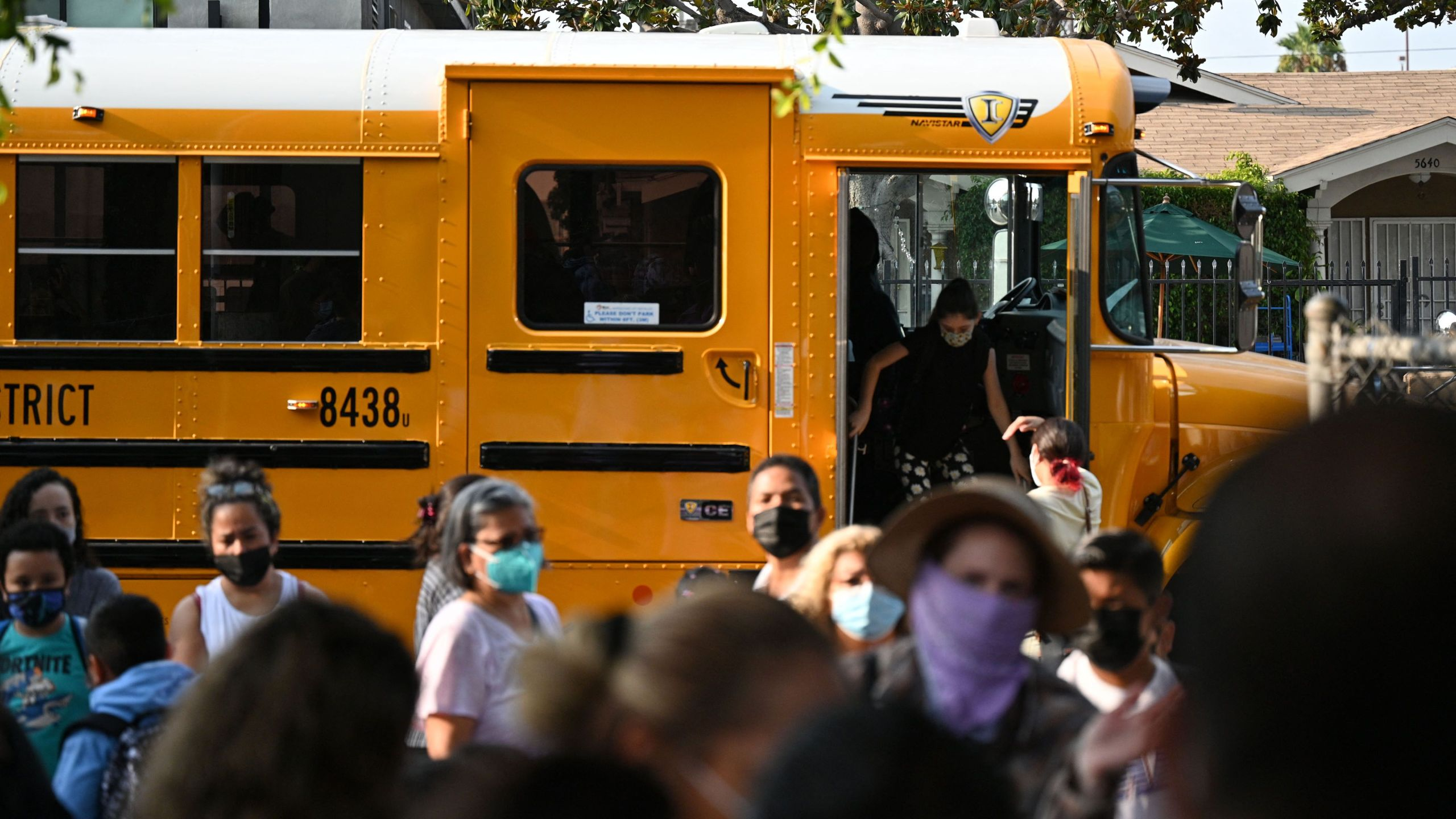 Students by school bus