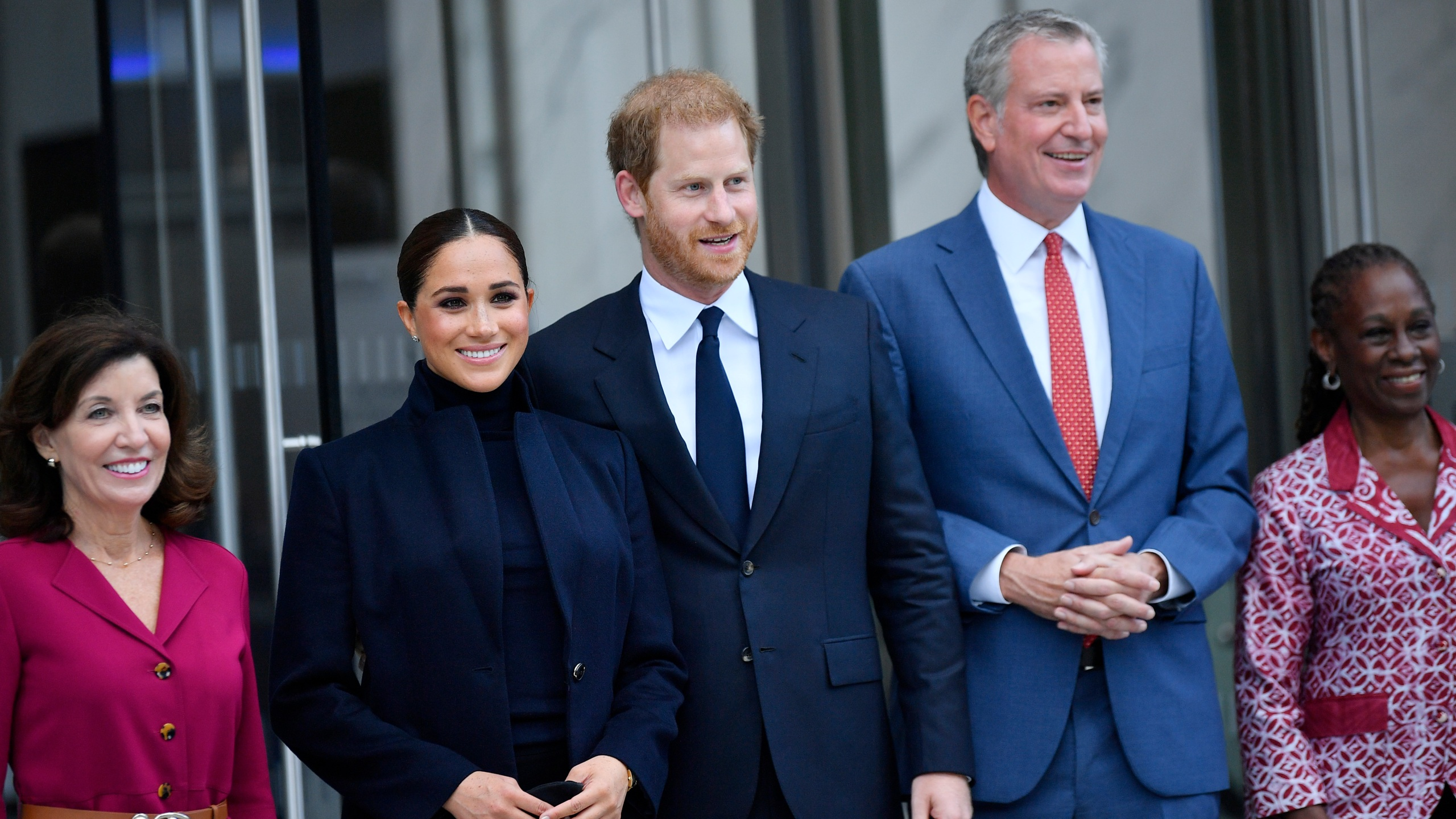 Meghan Markle and Prince Harry at One World Trade Center in NYC