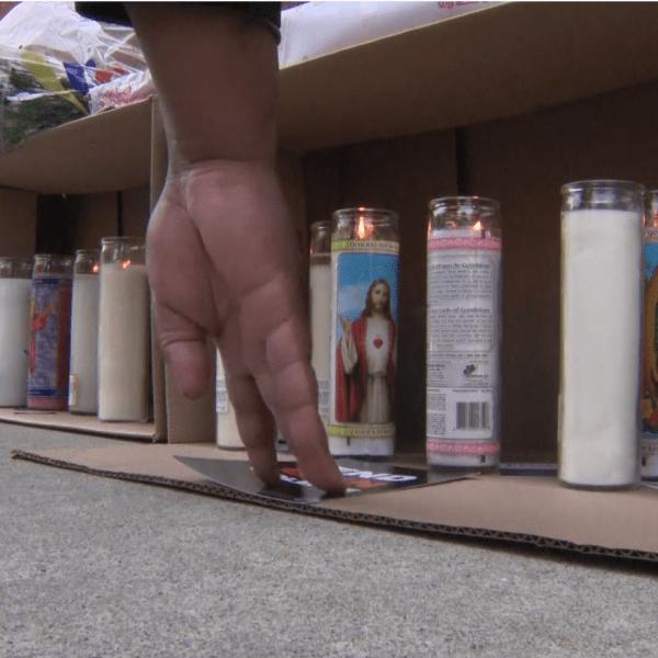 Candles at Harlem vigil