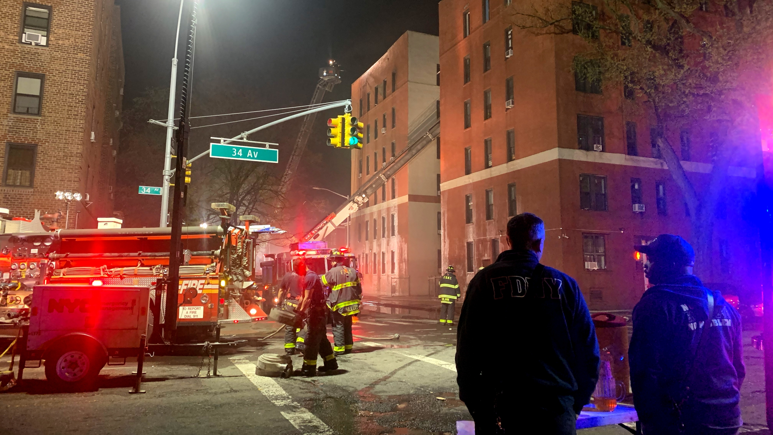 Residential fire in Jackson Heights, Queens