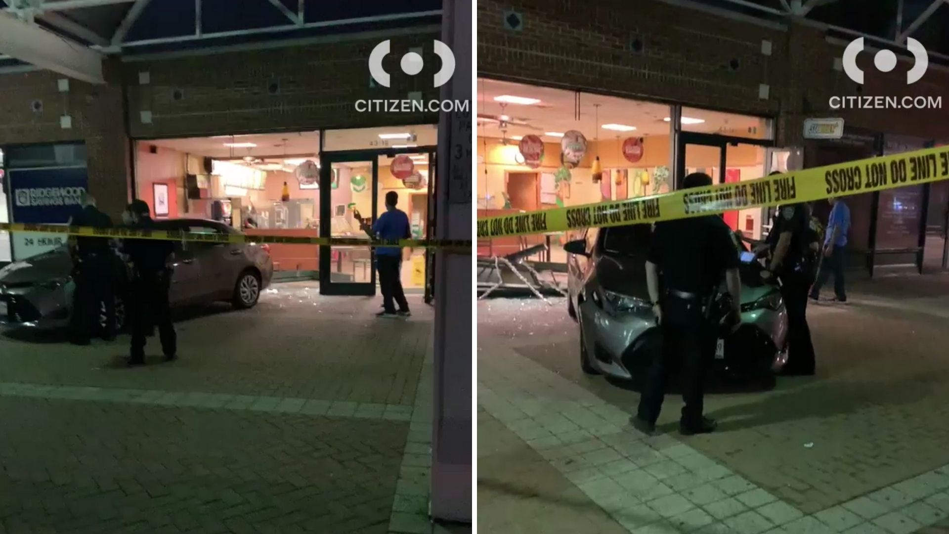 Car crashes into Subway restaurant in Astoria, Queens