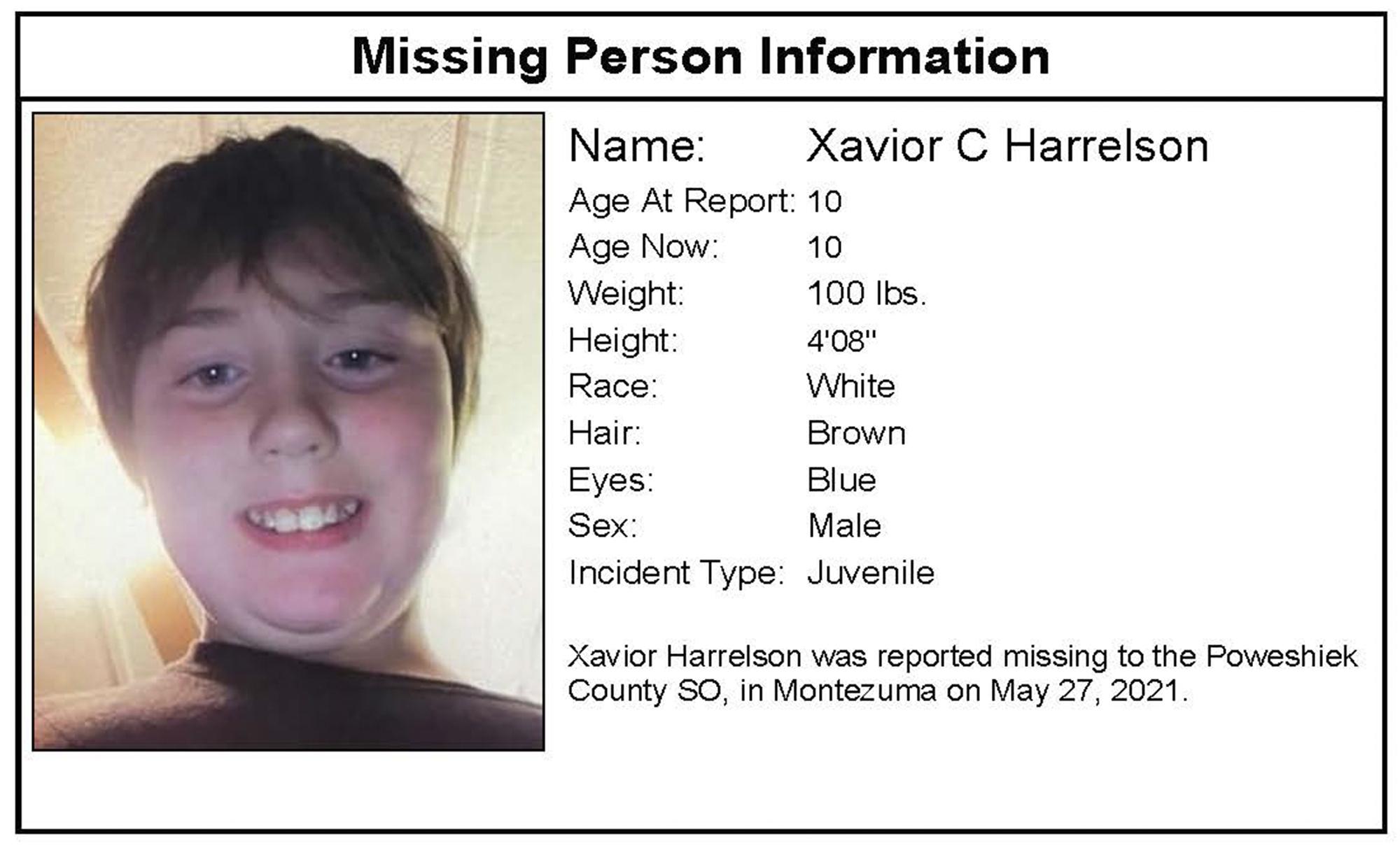missing boy Xavior Harrelson