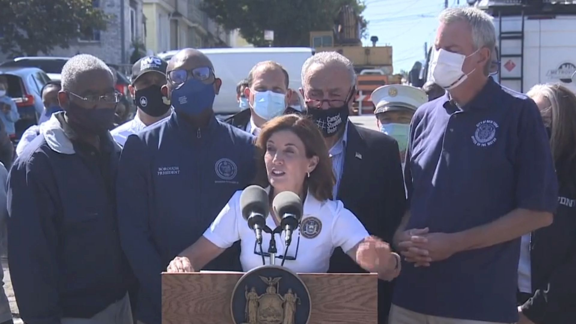 NY leaders in Queens after Ida flooding