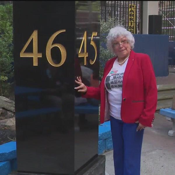 Hurricane Maria monument in East Harlem