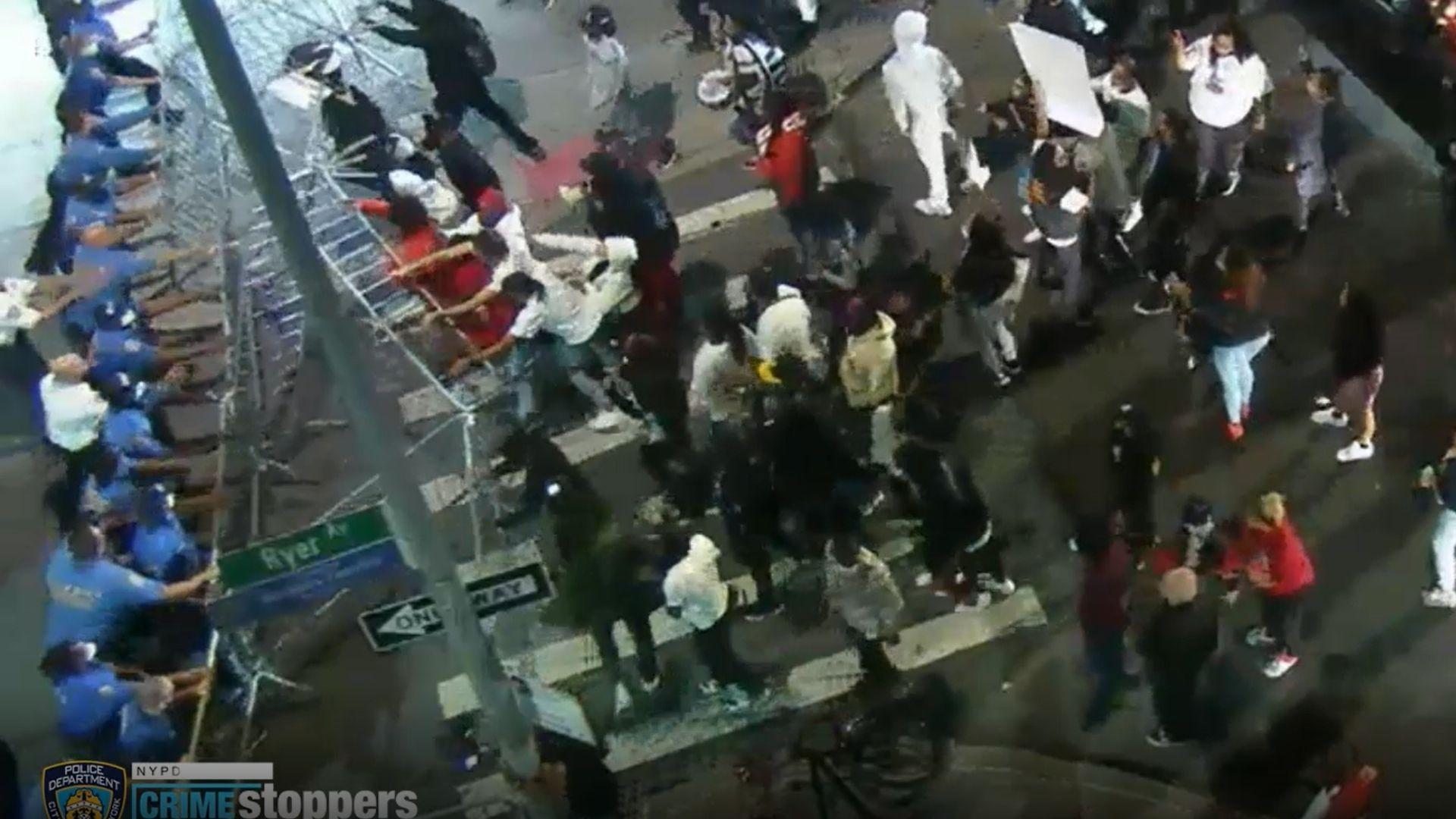 NYPD, protesters clash