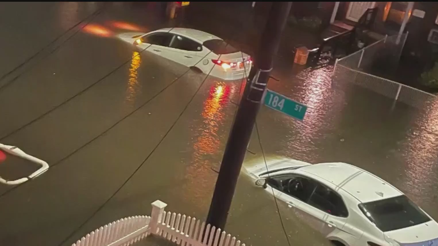 Flooding in Queens after Ida.
