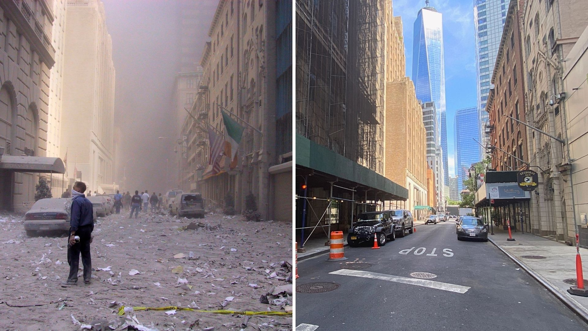 Sept. 11 then and now photos