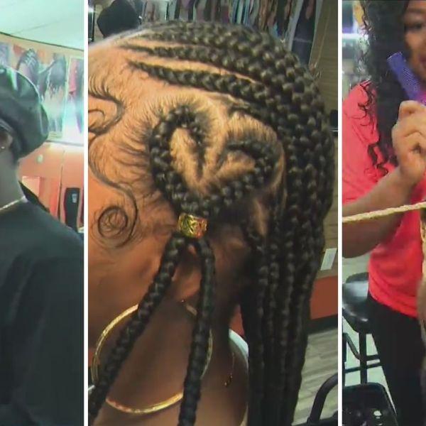 Ben Aaron visits Aicha's Hair Braiding in NJ