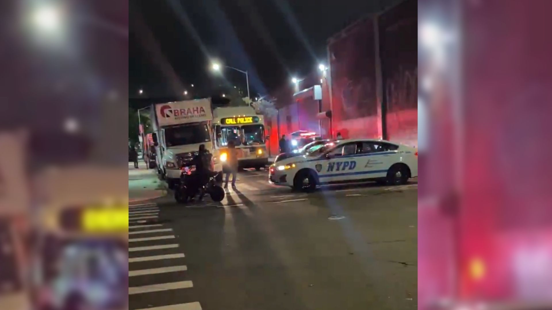 NYPD car and MTA bus collide in Brooklyn