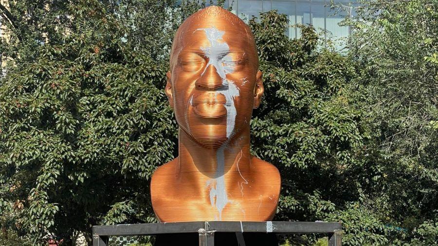 George floyd statue vandalized union square