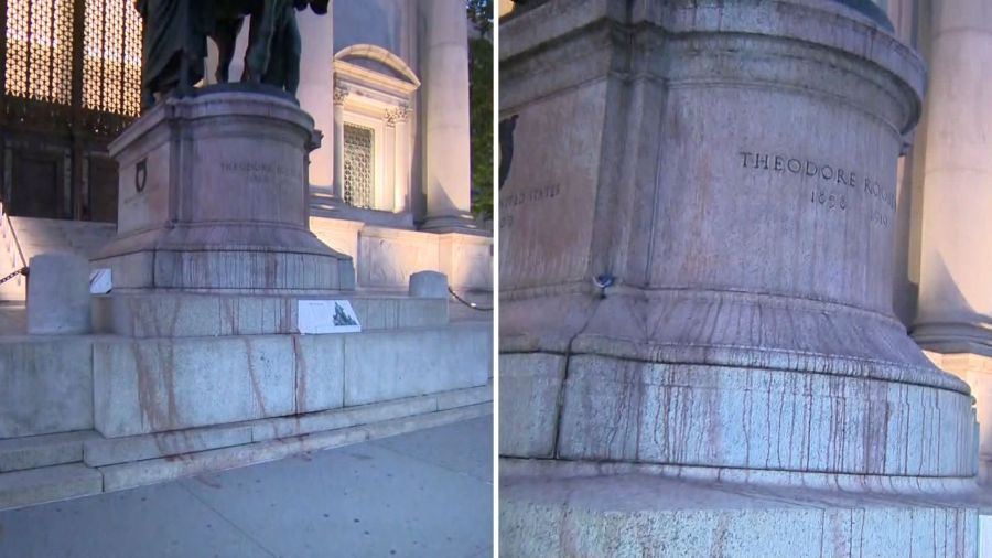 Theodore Roosevelt statue vandalized outside Museum of Natural History
